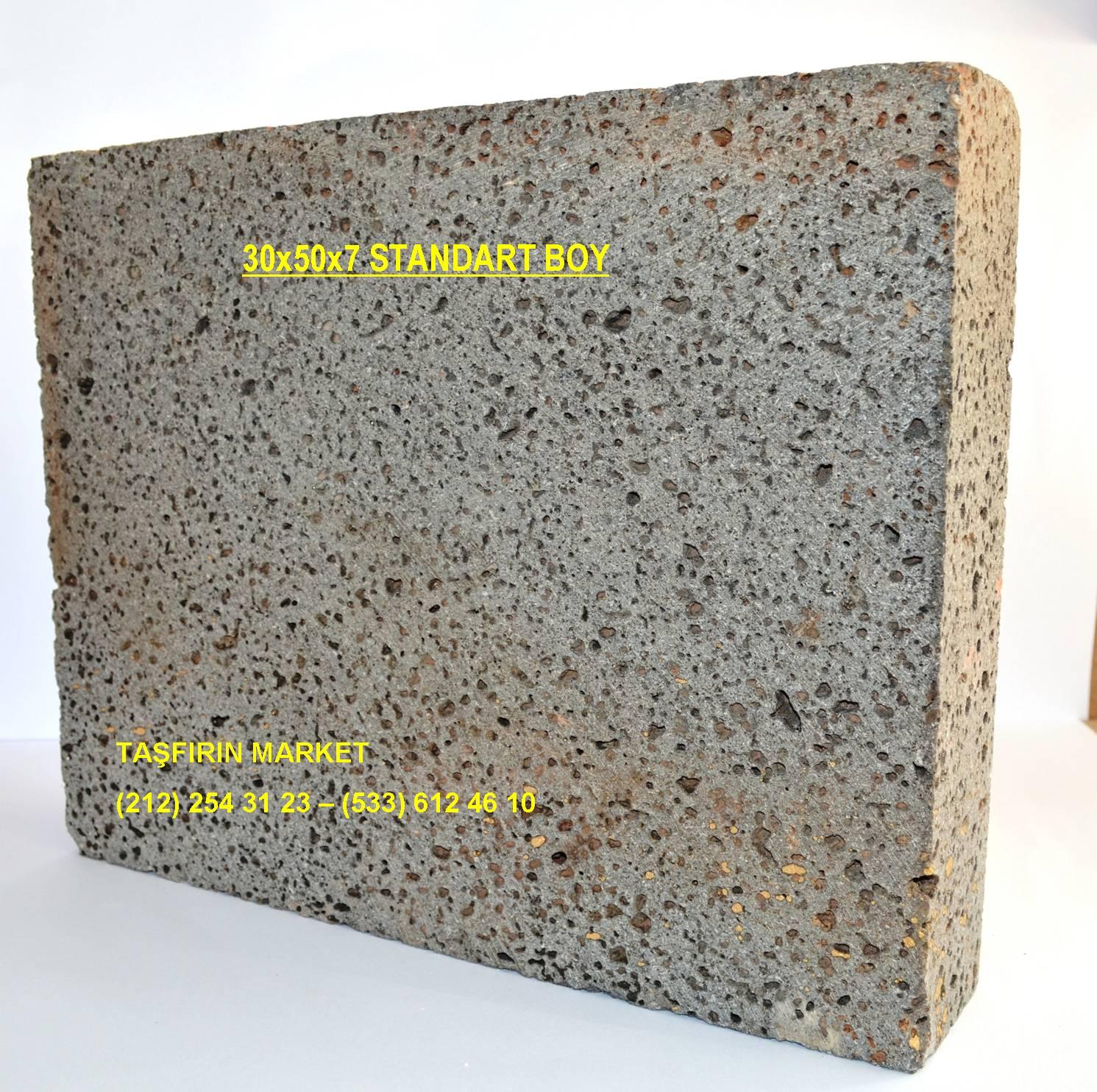 Taş fırınlar için taban taşı 30x50x7 cm standart boy